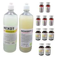 Pachet Geluri Dezinfectante, Pentru Maini, Mexot+Bioxisept 1l Si 5 Geluri Igienizante Mexot+Bioxisept 100ml