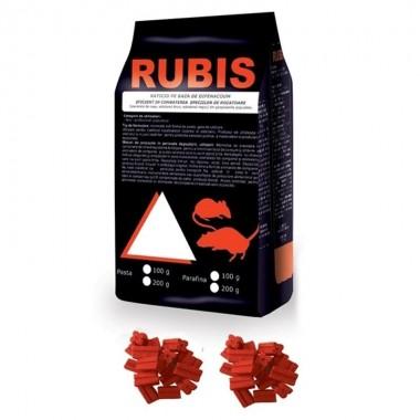 Momeala raticida baton cerat Rubis (200gr) rosu