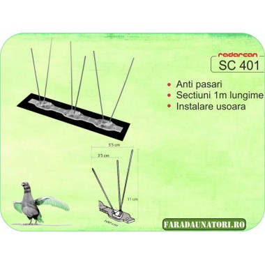 Kit anti pasari ( alunga pasarile daunatoare) Radarcan SC401