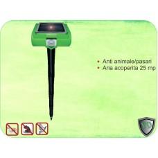 Aparat anti salbaticiuni combate caini/ pisici/ vulpi/ animale salbatice (25 mp) Solar