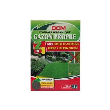NPK 9-3-6 DCM 1.5kg pentru gazon fertilizat peluza+erbicid (2in1)