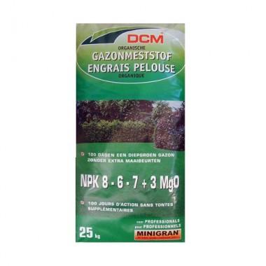 NPK 8-6-7+3 MgO DCM 25kg fertilizant pentru gazon