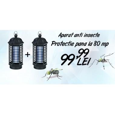 Oferta! 2 aparate anti insecte cu lampa UV - Pestmaster IK4 (acopera aprox. 80 mp)