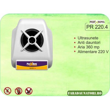 Aparat anti veverite cu ultrasunete (360 mp) PR 220.4
