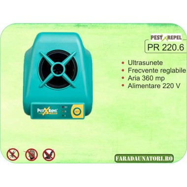 Electronic Pest Repeller cu ultrasunete pe 3 moduri (360 mp) PR 220.6