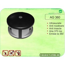 Aparat cu ultrasunete antigandaci, antisoareci (370 mp) Pestmaster AG360
