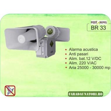 Dispozitiv electronic impotriva pasarilor daunatoare (25.000 - 30.000 mp) BR33