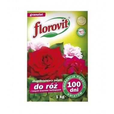 Florovit 1kg cu efect prelungit 100zile - pentru trandafiri si alti arbusti ornamentali ingrasamant granulat specializat
