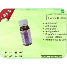 Solutie anti gandaci, muste, tantari, purici, capuse - Pertox 8 50ml
