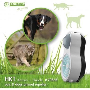 Aparat portabil cu ultrasunete si senzor PIR impotriva cainilor si pisicilor HK1 70565 raza 10m