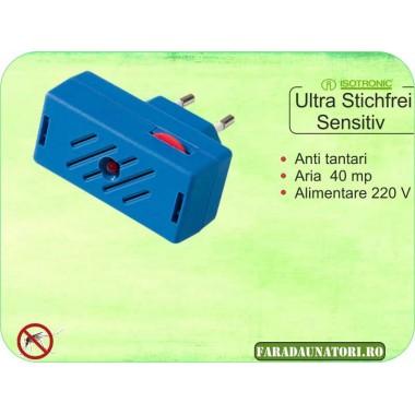Aparat contra tantarilor cu ultrasunete sensitive (30 mp) Isotronic Ultra Senzitiv