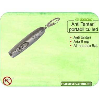 Aparat anti-tantari portabil cu lanterna LED (6 mp) Isotronic