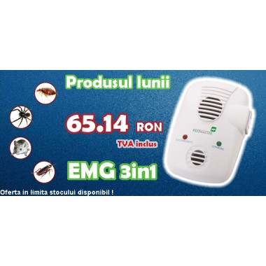 Aparat anti-daunatori (200 mp) Pestmaster EMG 3in1 (cu unde electromagnetice )