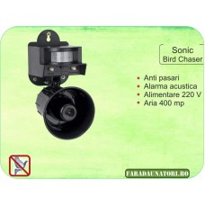 Pestmaster Sonic Birdchaser - Dispozitiv cu alarma acustica (400 mp)