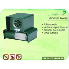 Dispozitiv anti animale si pasari cu ultrasunete (100 mp) Pestmaster Animal Away