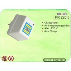 Aparat antirozatoare, antigandaci cu ultrasunete (50 mp) PR 220.5