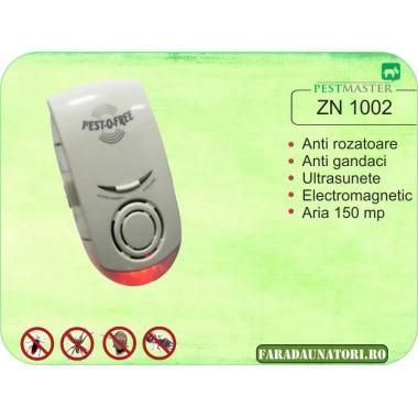 Aparat cu ultrasunete si unde electromagnetice impotriva soarecilor rozatoarelor si insectelor (150mp) Pestmaster ZN1002