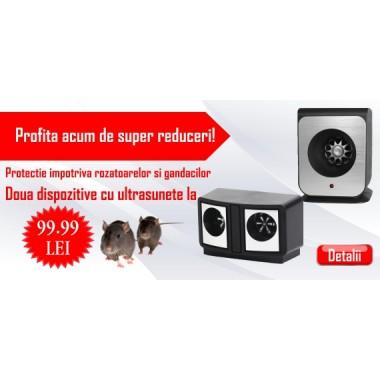 DUAL PestRepeller + Aparat cu ultrasunete antidaunatori (250 mp) Pestmaster AG250
