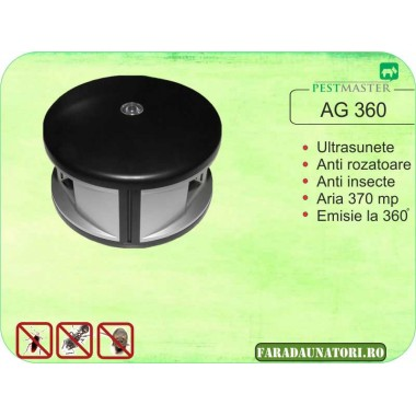 Aparat cu ultrasunete anti soareci cu emitere frecventa pe 360 grade Pestmaster AG360