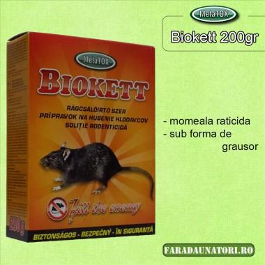 Biokett grau raticid pentru rozatoare 200gr.