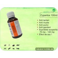 Insecticid anti insecte, anti gandaci, anti purici, anti daunatori Cypertox 100ml