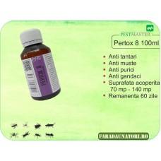 Insecticid impotriva insectelor zburatoare si taratoare, Pertox 8 100ml